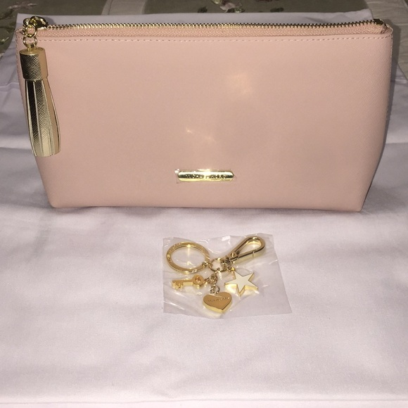046f0dcede00 Michael Kors Bags | Pink Makeup Bag And Gold Key Chain | Poshmark
